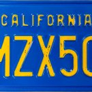 1986 California License Plate (1MZX504)