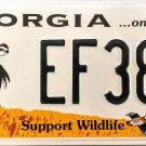 2004 Georgia Support Wildlife License Plate (EF38B)