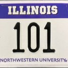 Illinois: Northwestern University License Plate (101 AN)