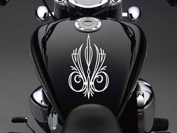 "9"" x 5.5"" - Pinstripe - Pick Color - Vinyl Decal Sticker (Design #2)"
