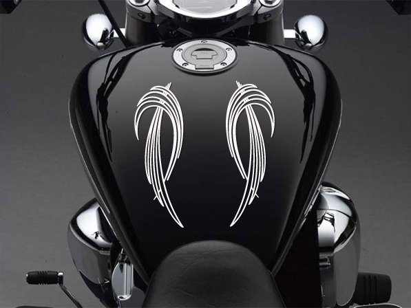 "8"" x 2.6"" - Two Pinstripes - Pick Color - Vinyl Decal Sticker (Design #4)"