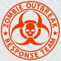 "3"" x 3"" - Zombie Outbreak Response Team - Pick Color - Vinyl Decal Sticker (Design #01)"