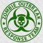 "4"" x 4"" - Zombie Outbreak Response Team - Pick Color - Vinyl Decal Sticker (Design #01)"