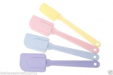 MIU France Set of 4 Silicone Spatulas, Pastel Colors