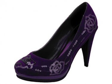 Women's Platform High Heel Pump Shoes size 7 � Purple - NEW Great for Prom! NEW