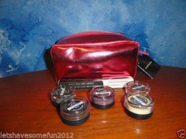 Bare Minerals / Bare Escentuals 6 piece Eyecolor Eyeliner Wardrobe Plus red bag