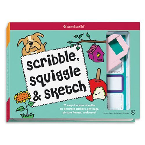 American Girl Scribble, Sqiggle & Sketch book