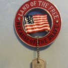 Land of the Free Because of the Brave Ornament Christmas, holiday, Decoration