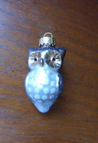 Small Glass Owl Ornament Christmas Decoration