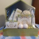 Decorative Spa Planter - Bath & Body Gift Set Milk & Honey