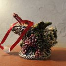 Wine Lovers Basket Ornament Decoration