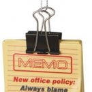 Memo New Office Policy: Always Blame the Computer Paper Clip Christmas Tree Ornament
