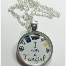 Fan Girl.TFIOS.Hunger Games.TMI.Doctor Who.Percy Jackson.Divergent.Harry Potter.Fandom Necklaces