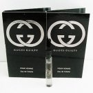 Gucci Guilty Pour Homme Men EDT 2ml .06oz Sample x2
