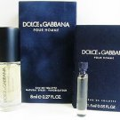 Dolce & Gabbana Pour Homme EDT For Men 8ml .27oz SPRAY MINI + Sample