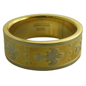 316L Stainless Steel Tribal Pattern Handmade Men's Ring