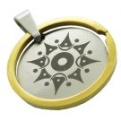 316L Stainless Steel Circle Tribal Pattern Pendant