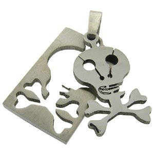 316L Surgical Stainless Steel Pendant Skull Pattern