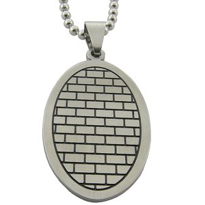 316L Surgical Fiber Stainless Steel Pendant Tribal Pattern