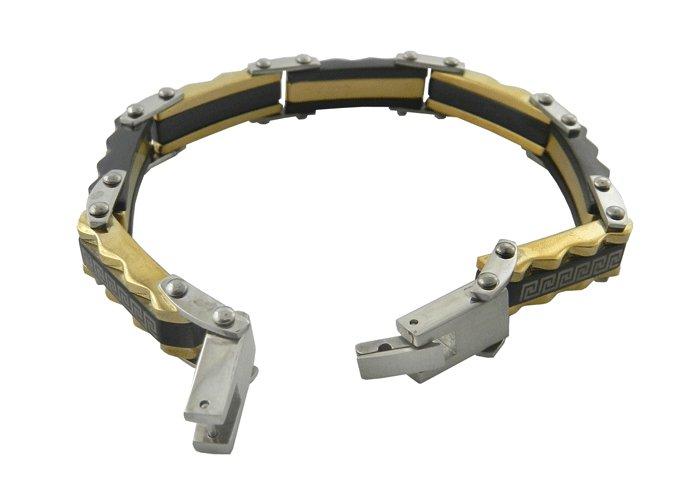 316L Stainless Steel Silver Chain Men's Bracelet