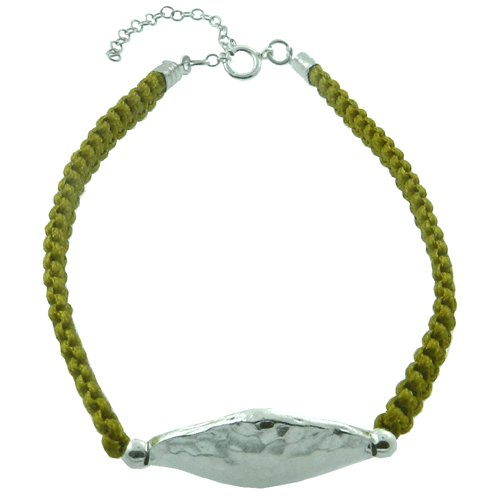 925 Sterling Silver Yellow Handmade Rope Bracelet