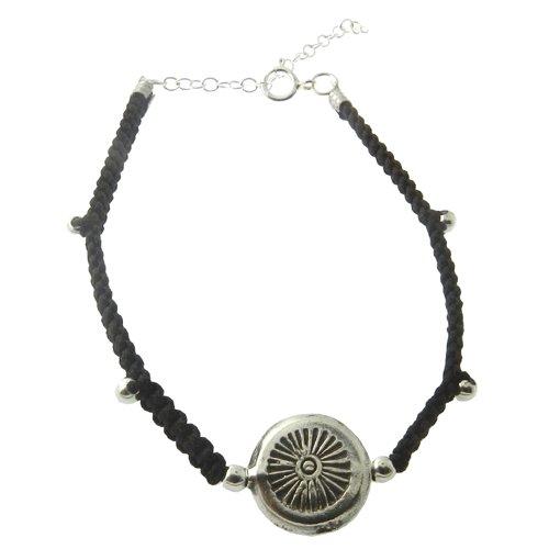 925 Sterling Silver Brown Handmade Rope Bracelet