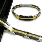316L Stainless Steel Black Casual Fashion Men's Bracelet
