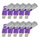 Enfain® 10pcs Swivel Design Waterproof USB Flash Drive 2.0 Memory Stick Pen (256MB, Purple)
