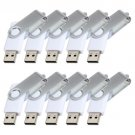Enfain® 10Pcs Nice Swivel Design New Waterproof USB 2.0 Flash Drive Memory Stick(2GB,White)