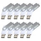 Enfain® 10Pcs Nice Swivel Design New Waterproof USB 2.0 Flash Drive Memory Stick(16GB,White)