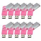 Enfain® 10Pcs Nice Swivel Design New Waterproof USB 2.0 Flash Drive Memory Stick(32GB,Pink)