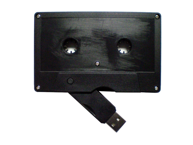 Enfain® Creative Cassette Shape Flip Out Bulk 8GB USB 2.0 Memory Stick Pen Drive (Black,10pcs)