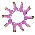 Enfain® 10Pcs Metal Key 16GB USB Flash Drive 2.0 Memory Stick Multi Color Choice (Purple)