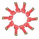 Enfain® 10Pcs Metal Key 16GB USB Flash Drive 2.0 Memory Stick Multi Color Choice (Red)