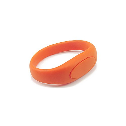 Enfain® Nice Wrist Band Style New Silicone Waterproof USB 2.0 Memory Stick Pendrive(16gb,Orange)