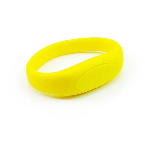 Enfain® Nice Wrist Band Style New Silicone Waterproof USB 2.0 Memory Stick Pendrive(16gb,Yellow)