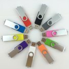 Enfain® 10PCS 128Mb USB Flash Drive - Bulk Pack - USB 2.0 Swivel in Mix Color
