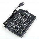 Enfain® 5 pcs USB 19 Keys Black Color Numeric Numerical Keypad Keyboard Pad