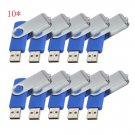 Print Logo for Free-100pcs 32GB Blue Swivel Custom USB Memory Stick 2.0