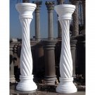 STUNNING PAIR OF RED OR WHITE  MARBLE PEDESTALS,12''DIAM X 39.5''TALL.