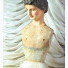 BEAUTIFUL VINTAGE REPRODUCTION PLASTER HAND PAINTED  BUST,19''TALL.