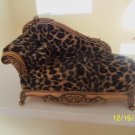 ADORABLE LEOPARD PRINT FABRIC RESIN JEWELRY BOX,10''WIDE X 6''TALL.