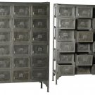 Great Industrial Loft 18 Drawer Rustic Iron Tall Cabinet,42'' x 15'' x 64''h.
