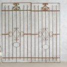 GORGEOUS PAIR OF VINTAGE IRON GATES,41''W X 83''TALL.