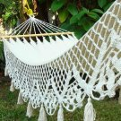 Chic Shabby New Hand Woven Wedding Hammock with Lace Border,11' L.