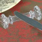STUNNING SET OF 4 CRYSTAL KNIFE REST,3''.