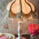 CHIC SHABBY PETITE ROSEBUD TABLE LAMP,SO PRETTY!15''H.