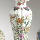 STUNNING VINTAGE STYLE HAND PAINTED MING GARDEN PORCELAIN VASE,20.5''TALL.