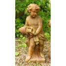 STUNNING LARGE SPRING CHERUB WATER POURER GARDEN STATUE,38''TALL,SO ADORABLE!