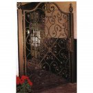 STUNNING BLACK IRON GARDEN GATE/DOOR WITH POST,39'' W X 1''D X 70''TALL.